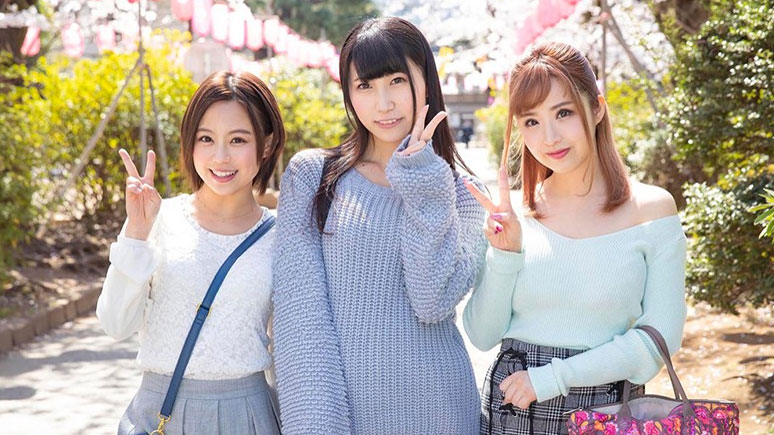 花見客とハーレムプレイ かなえ(21)みく(20) まり(20)