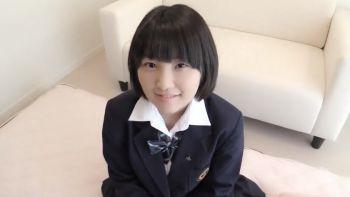 黒髪ショートの女子高生を電マでイジって顔射でキメる!!