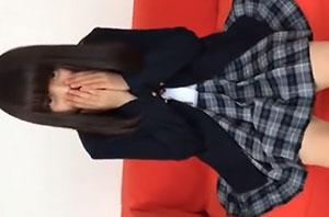 「個人撮影」純白パンツが眩しい清楚な女子高生と円光中出しSEX