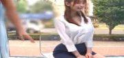 《MM号》ミニスカ美脚OLが痴漢施術でイタズラされ放題!容赦ない電マ責めに膣濡れ!パンスト破りぶち込み着衣ハメ種付け!